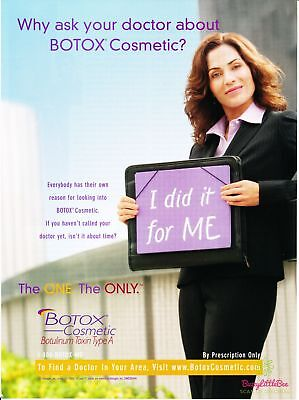 Print Ad~2006~Botox Cosmetic~Botulinum Toxin Type A~Advertisement~H500