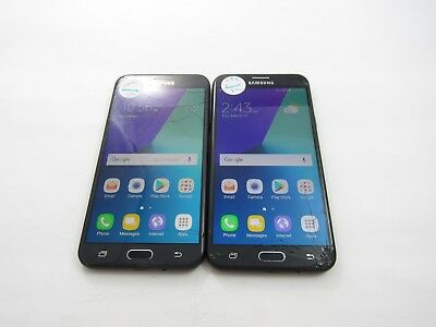 Cracked Lot of 2 Samsung Galaxy J7 SM-J727R4 USCellular/Unkown CheckIMEI 4CR