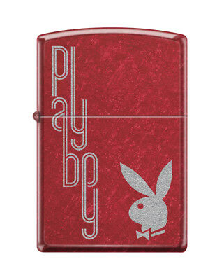 "Zippo ""Playboy Bunny Logo"" Lighter, Candy Apple Red Finish, 1169"