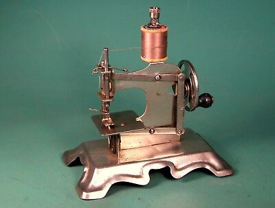 * Scarce * Nickel Plated Toy Sewing Machine * Casige * Muller * Unknown * German