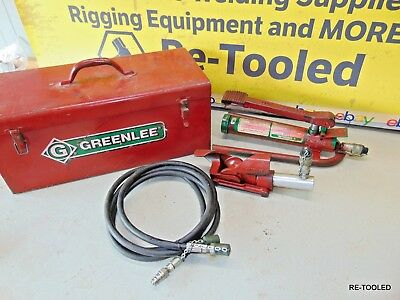 GREENLEE 800 Hydraulic Cable Bender With 1725 Foot Pump, Hose Line & Tool Box