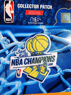 Official Golden State Warriors Back To Back 2017 & 2018 NBA Championship Patch