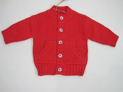 Timberland Newborn Baby Boys Long Sleeve 1973 Cardigan size 1 month Burnt Orange