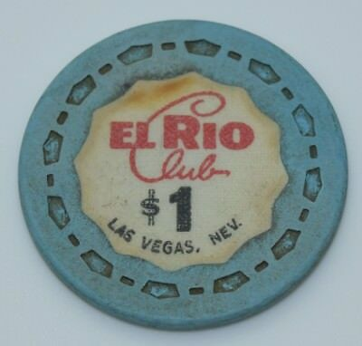 1964 El Rio Club $1 Casino Chip Las Vegas Nevada Sm-Crown Mold