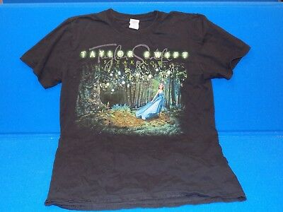 Taylor Swift Speak Now Tour Tshirt Adult Medium Mens Womens Black T Shirt Forest