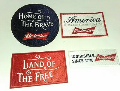 Lot of 4 New BUDWEISER Beer patches