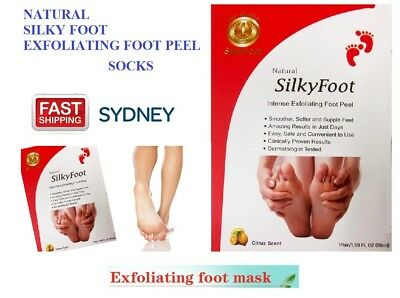 UNREAL Silky Baby Foot Exfoliation Milky Feet Peel Mask Remove Skin Foot Mask