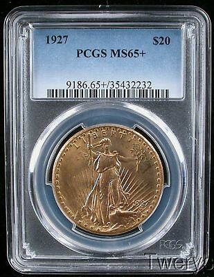 1927 Saint Gaudens Gold $20 Double Eagle Pcgs Ms 65 + Plus