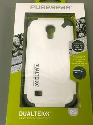PUREGEAR DualTek Extreme Shock Case.Samsung Galaxy S4 Mini.White-BUY 1 GET 1FREE