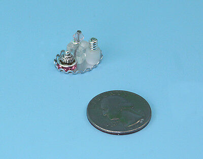 FABULOUS Set of 3 Dollhouse Miniature Perfume Bottles with a Vanity Tray #PS9