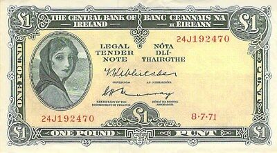 IRELAND 1 POUND NOTE 1971 P-64c