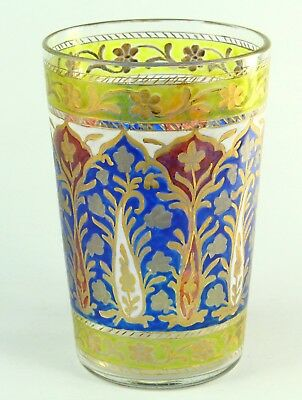 ! Antique 1842-1887 DAVIS COLLAMORE & CO. New York Enameled Glass Tumbler Cup #2
