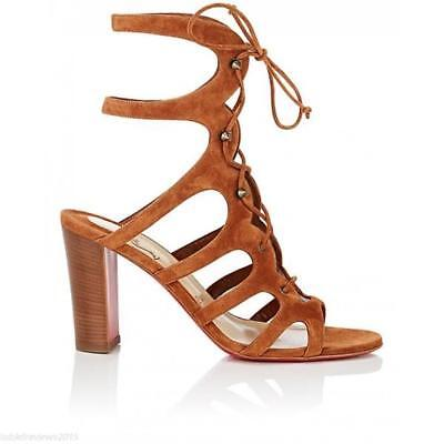 more photos ffebd d7cc0 CHRISTIAN LOUBOUTIN AMAZOUDUR Caged Lace Up Gladiator Heels Sandals Shoes  $1195