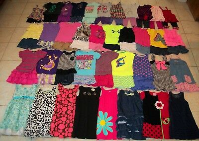 Girls Clothes/Outfits/Dresses Lot of 65 Size 5T-5/6T Summer
