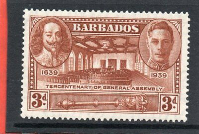 Barbados GV1 1939 Gen. Assembly 3d, sg 261 VLH.Mint