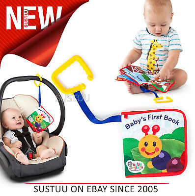 Baby Einstein Explore Book│Learning Activity/ Fun Soft Teething Toy│Clip on Pram