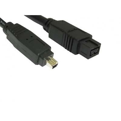 2m Firewire 800 To 400 9 Pin zu 4 Pin Kabel Ieee1394b Pc Mac Dv Out Camcorder