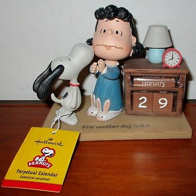 Hallmark Peanuts Gang Perpetual Calender Lucy And Snoopy Kiss Another Day Hello