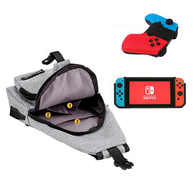For Nintendo Switch Backpack Crossbody Travel Bag Console Joy-Cons Accessories