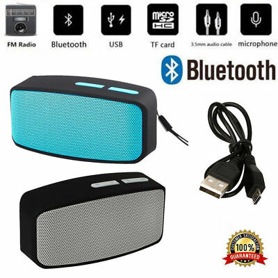 Portable Wireless Bluetooth Stereo FM Speaker For Smartphone Tablet Laptop DC 5V