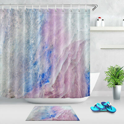 Fabric Shower Curtain Marble Grunge Stone Print for Bathroom Decor 72Inches Long
