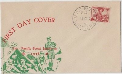 Stamp Australia 2&1/2d red Scout on Mitchell cachet FDC Perth postmark scarce