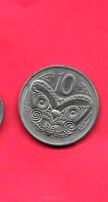 New Zealand Km61 1987 Vf-Very Fine-Nice Old 10 Cent Butterfly Coin