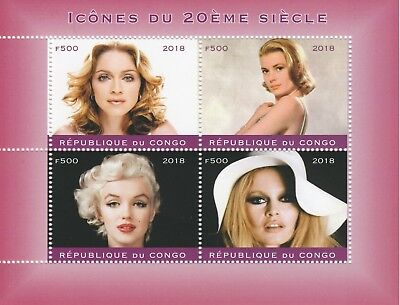 Stamps Congo Congo 7544-2018 George Michael Perf Sheet Of 4 Values Unmounted