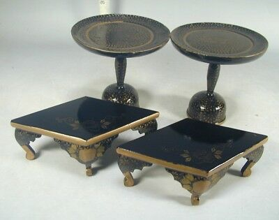 Hina Doll House Set #933 Japanese Antique Miniature Lacquer Wood TABLE FURNITURE