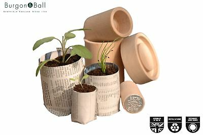 Burgon and Ball Eco Paper Plant Pot Maker - Make Your Own Seedling Pots 3 Sizes