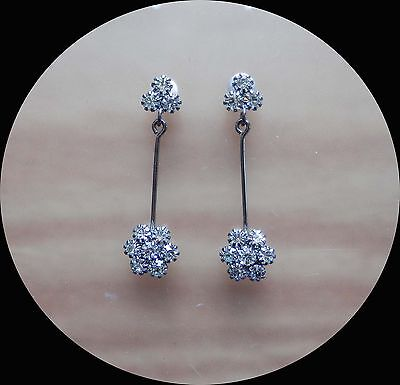 Flowers Dangle Earrings with Shadow Crystal Perfect Gift E1219A