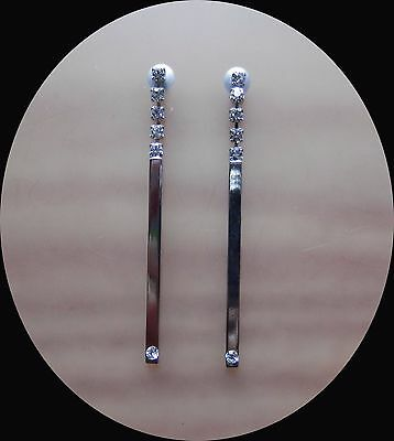 Fashion Woman Jewelry Dangle Earrings With Clear Crystal E1374
