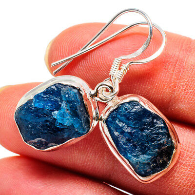 "Apatite 925 Sterling Silver Earrings 1 3/8"" Ana Co Jewelry E368122"