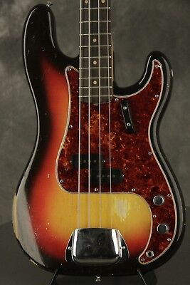 original 1963 pre-CBS Fender PRECISION BASS Sunburst 8 lbs. 6.8 oz.