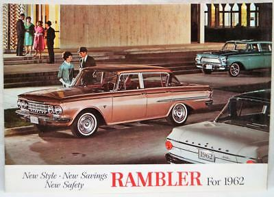 1962 American Motors Amc Rambler Car Advertising Sales Brochure Guide Vintage