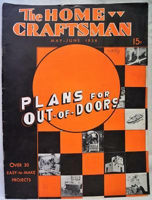 The Home Craftsman Magazine May June 1936 Vintage Woodworking Hobbies
