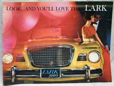 1960 Studebaker Lark Automobile Car Advertising Sales Brochure Guide Vintage