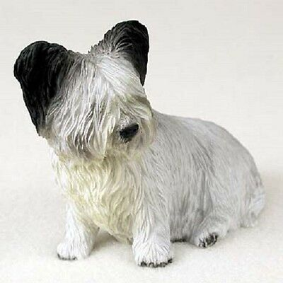 SKYE TERRIER Dog HAND PAINTED FIGURINE Resin Statue COLLECTIBLE Puppy NEW SKY