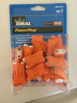 Ideal PowerPlug BALLAST DISCONNCT, ORNG, 2 PORTS, 600V, PK25 (30-372)