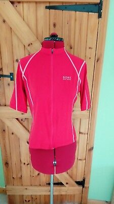 Ladies red cycle top by Gore size L