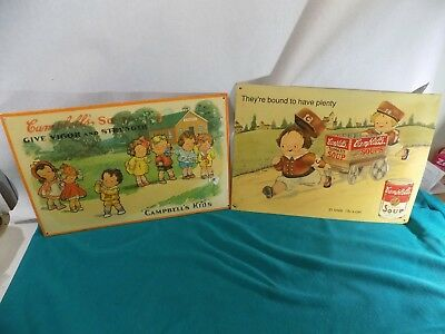 Two Vintage CampBells Soup Kids Signs, AAA Sign Co, Coltsville,Ohio 1991, 1993