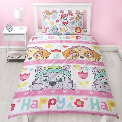Paw Patrol Bright Single Duvet Cover Set Childrens Colourful - 2 In 1 Design