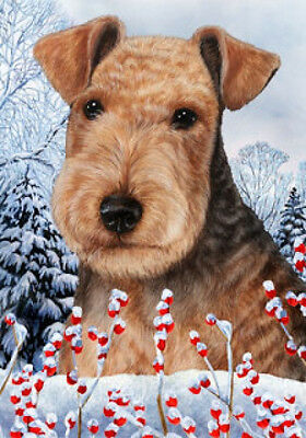 Large Indoor/Outdoor Winter Flag - Lakeland Terrier 15234