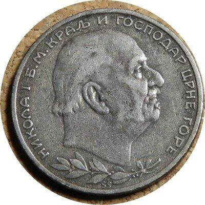 elf Montenegro Kingdom 1 Perper 1914  Silver  World War I
