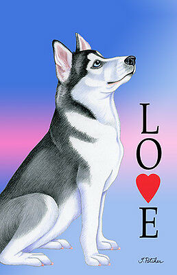 Large Indoor/Outdoor Love (TP) Flag - Siberian Husky 60018