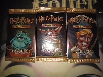 Harry Potter Tcg Card Chamber Of Secrets English 3 X Booster Packs All Artworks