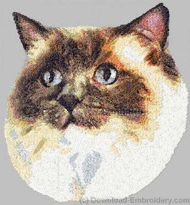 Embroidered Short-Sleeved T-Shirt - Ragdoll Cat DLE2633 Sizes S - XXL