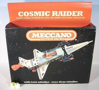 Meccano Space Plastik / Blech Cosmic Raider Baukasten in O-Box