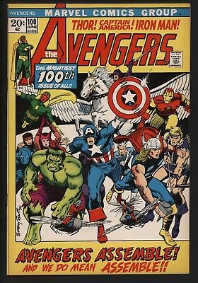 Avengers #100 Barry Smith Art Classic Key Issue! Vfn+ Bought It Myself In 1972