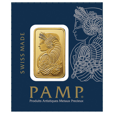 One Gram Gold Bar ~ Pamp Suisse (In Assay) ~ Free Shipping